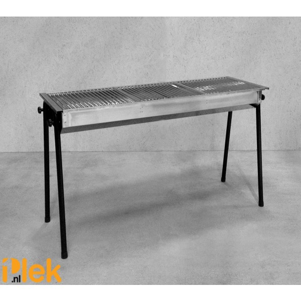 Barbecue houtskool Resto rvs 1140x380x840mm