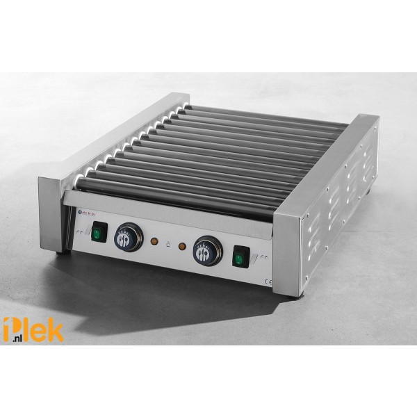 Worsten rollergrill 14 rollers 2 thermostaat 230V 1480W