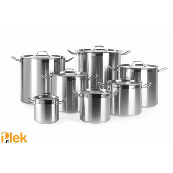 Kookpan m/d hoog 400x400mm 50 l rvs Profi Line