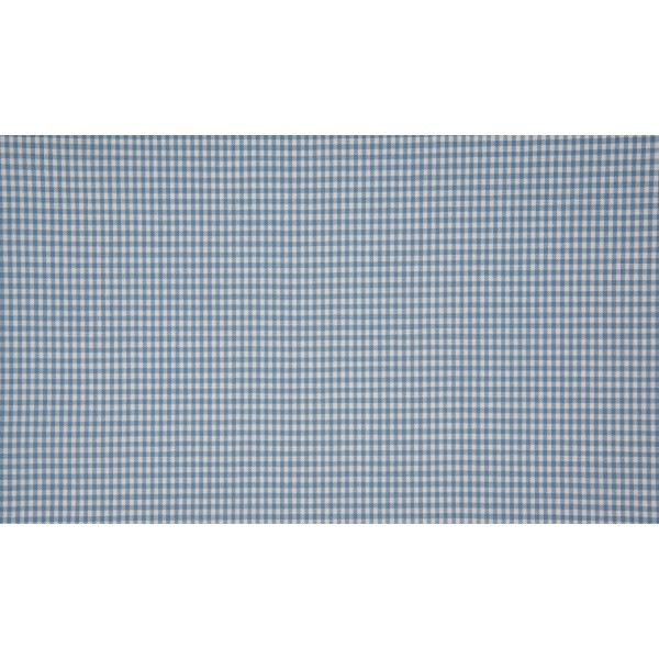Staalblauw wit geruit katoen - Boerenbont mini ruit