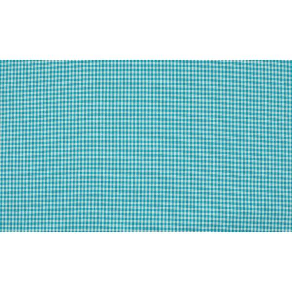 Oceaanblauw wit geruit katoen - Boerenbont mini ruit