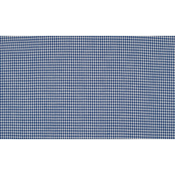 Midnachtsblauw wit geruit katoen - Boerenbont mini ruit