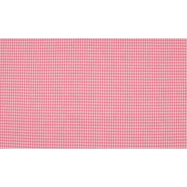 Roze wit geruit katoen - Boerenbont mini ruit