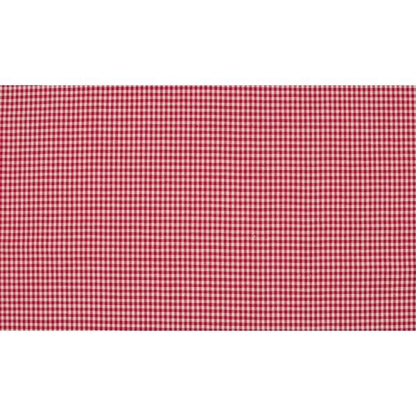 Rood wit geruit katoen - Boerenbont mini ruit