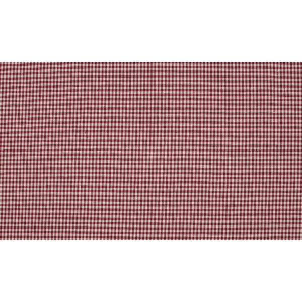 Bordeaux Rood wit geruit katoen - Boerenbont mini ruit