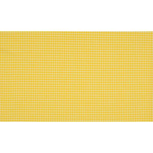Geel wit geruit katoen - Boerenbont mini ruit