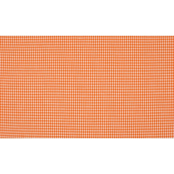 Oranje wit geruit katoen - Boerenbont mini ruit