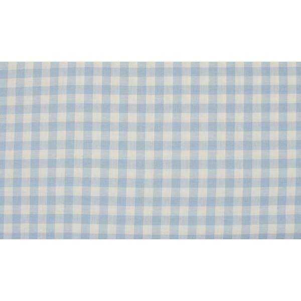 Baby Blauw wit geruit katoen - Boerenbont middel ruit