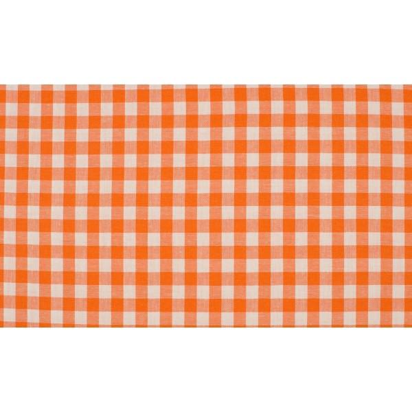 Oranje wit geruit katoen - Boerenbont middel ruit