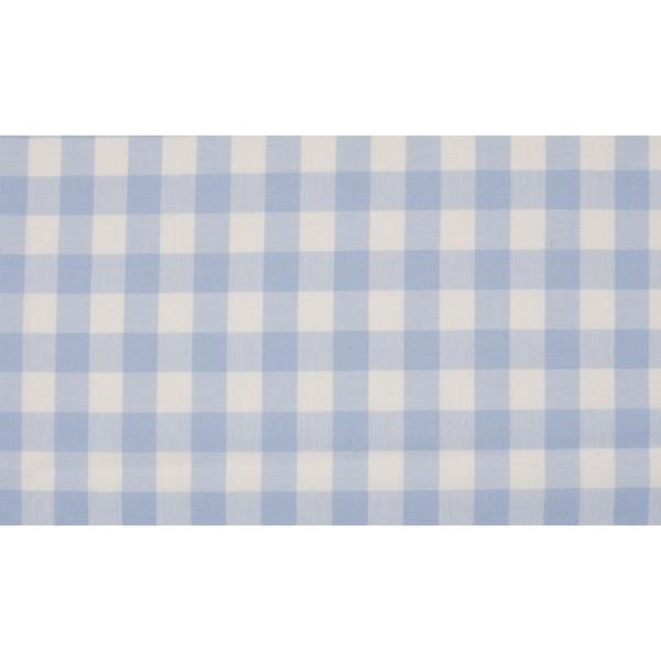 Baby Blauw wit geruit katoen - Boerenbont grote ruit