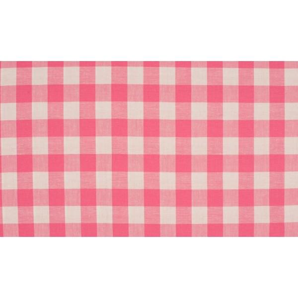 Roze wit geruit katoen - Boerenbont grote ruit