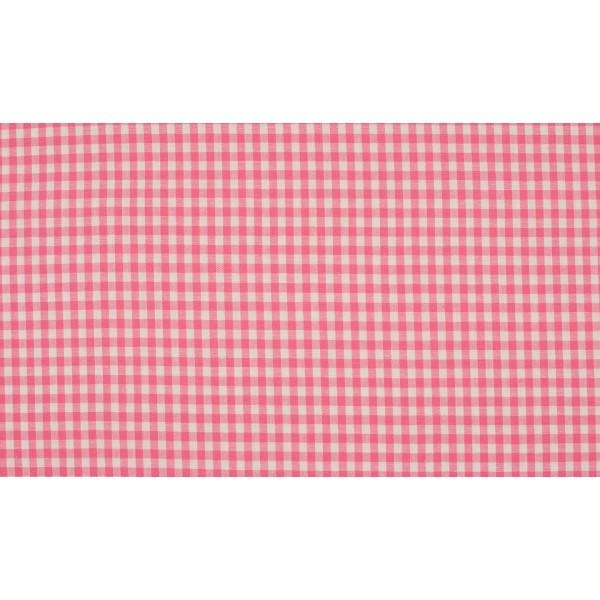Roze wit geruit katoen - Boerenbont kleine ruit