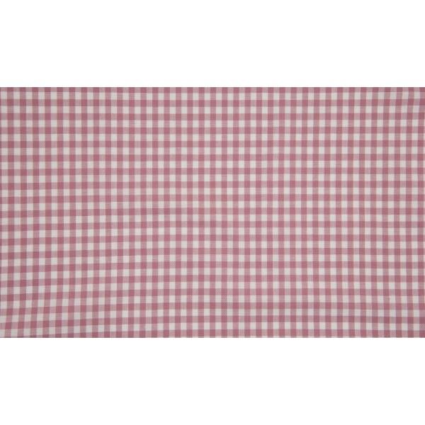 Oud Rosé wit geruit katoen - Boerenbont kleine ruit