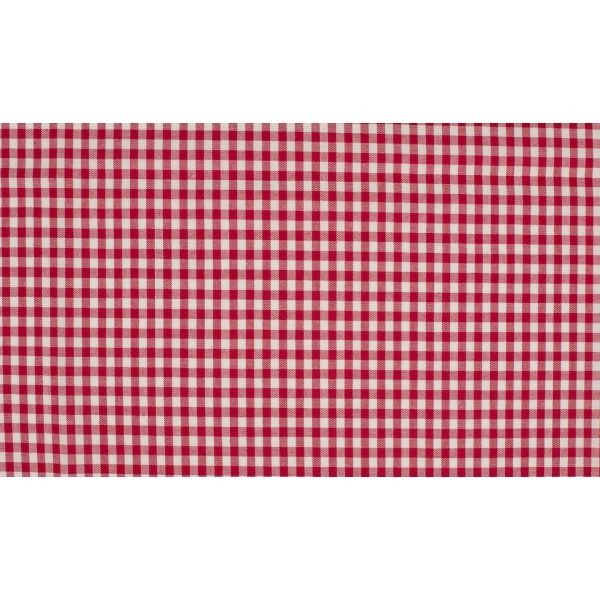 Rood wit geruit katoen - Boerenbont kleine ruit