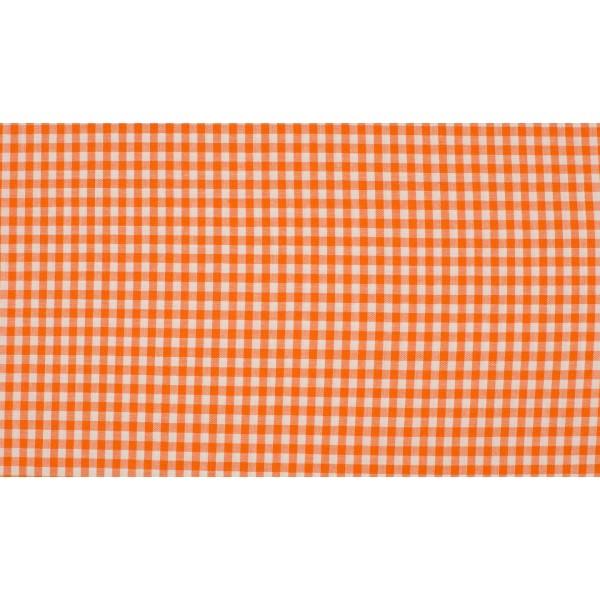 Oranje wit geruit katoen - Boerenbont kleine ruit