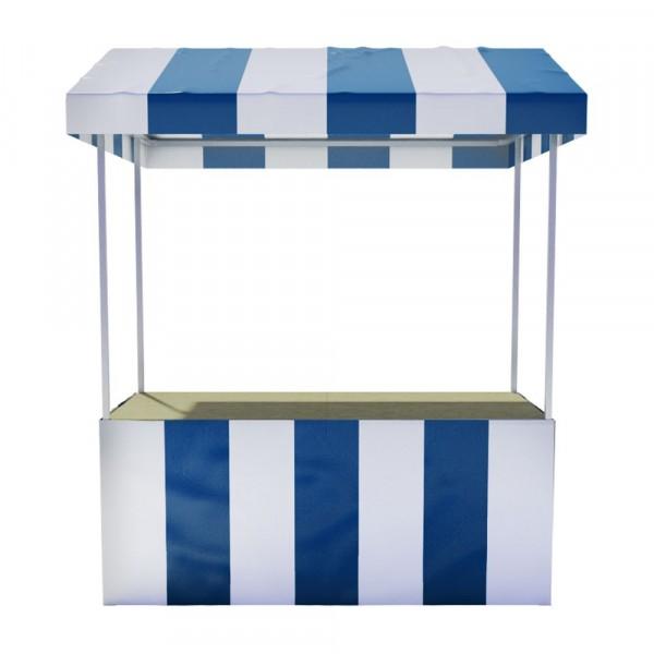 Professionele marktkraam - Blauw wit
