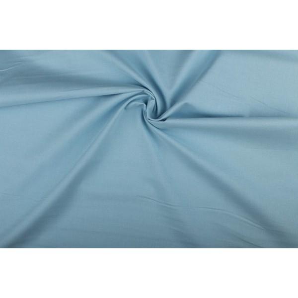 Katoen middenblauw - Katoenen stof op 10m rol