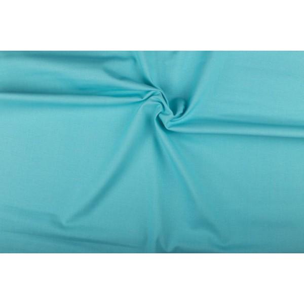 Katoen lichtblauw - Katoenen stof op 10m rol