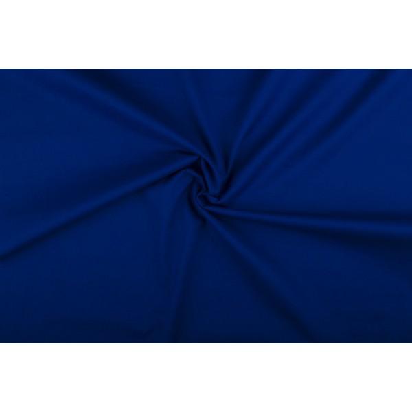 Katoen blauw - Katoenen stof op 10m rol