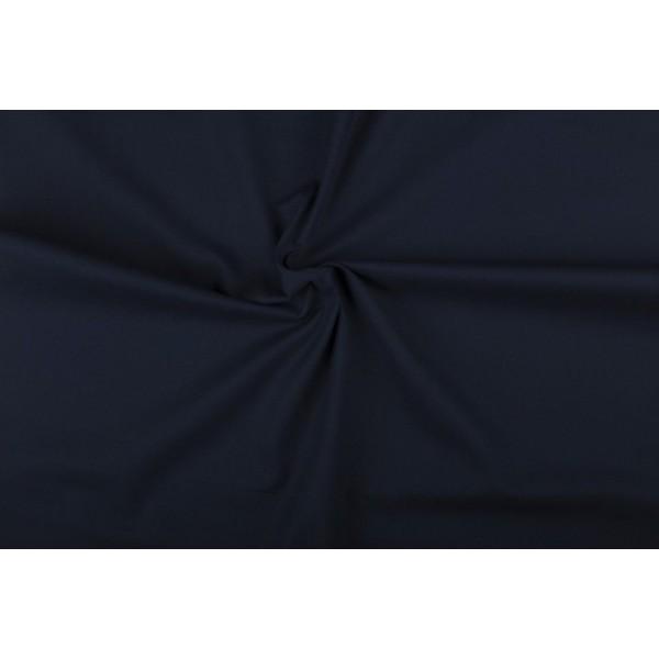 Katoen marineblauw - Katoenen stof op 10m rol