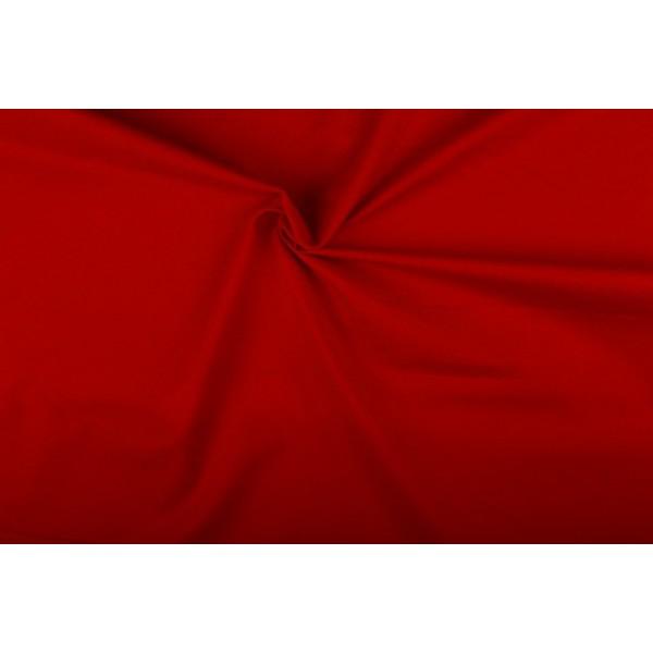 Katoen rood - Katoenen stof op 10m rol