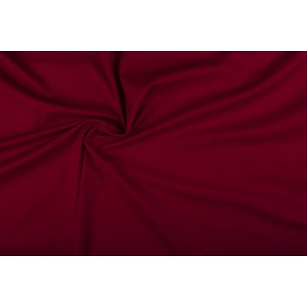 Katoen bordeaux rood - Katoenen stof op 10m rol
