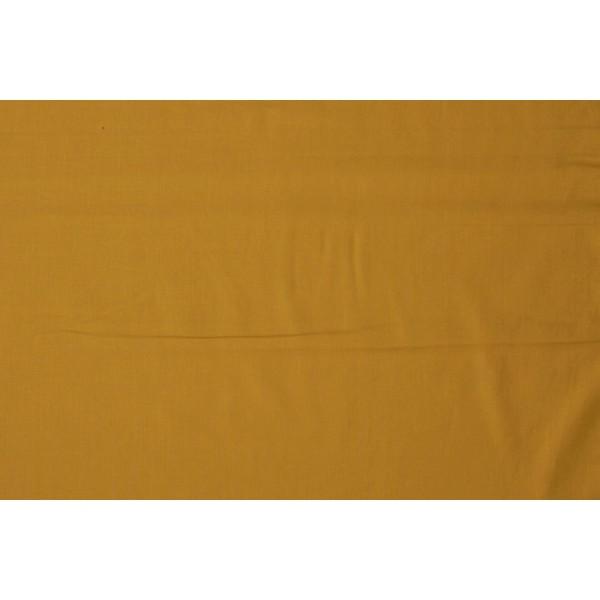 Katoen okergeel - Katoenen stof op 60m rol