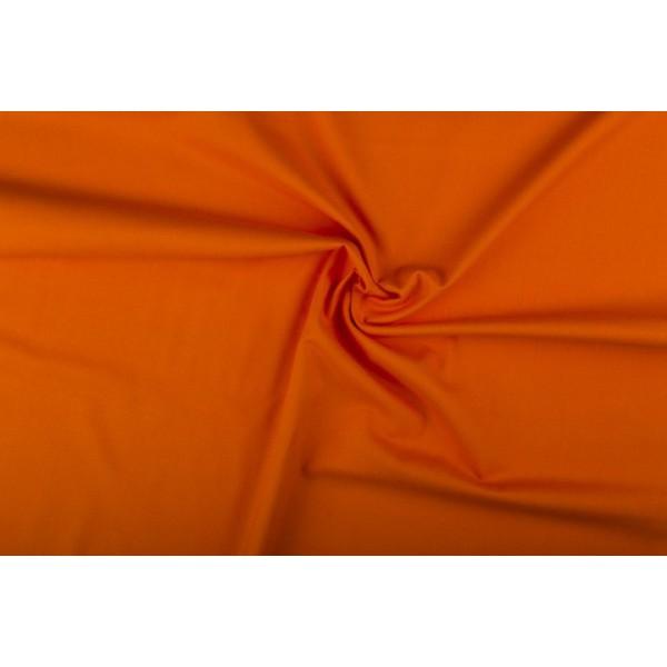 Katoen oranje - Katoenen stof op 10m rol
