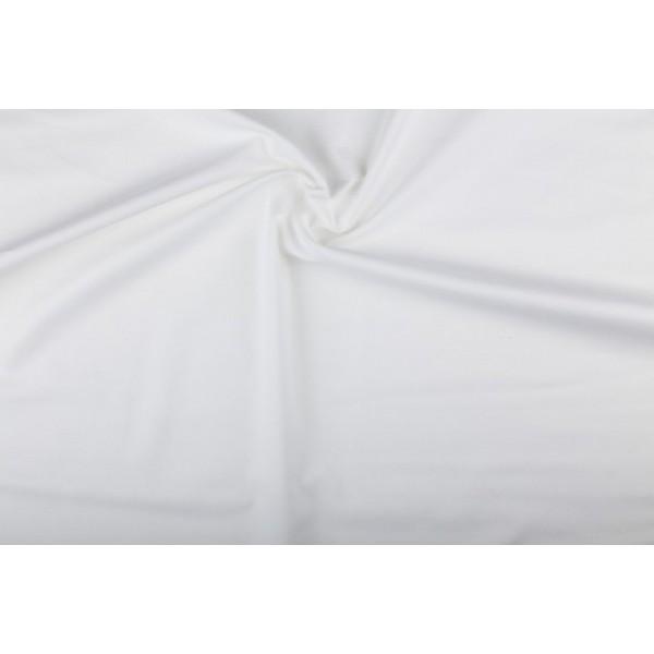 Katoen wit - Katoenen stof op 60m rol