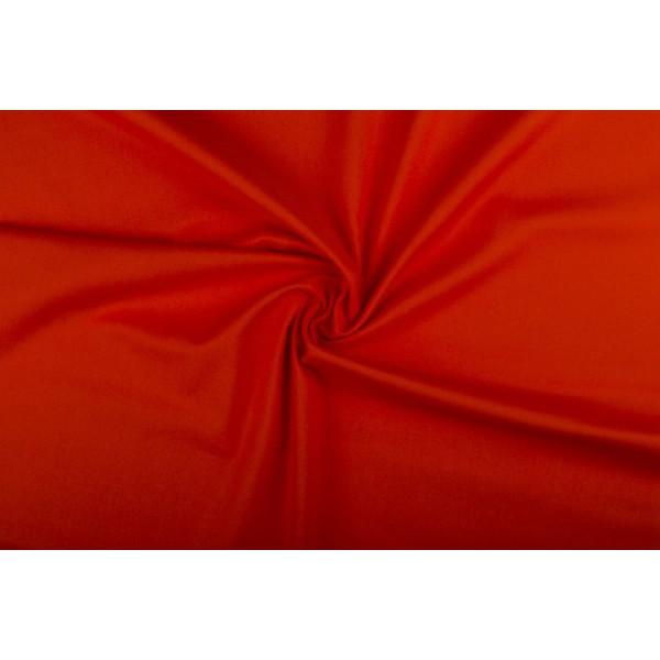 Katoen oranjerood - Katoenen stof op 60m rol