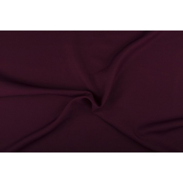 Texture stof donker bordeaux rood - 25m rol - Polyester