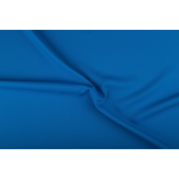 Texture stof waterblauw - 25m rol - Polyester