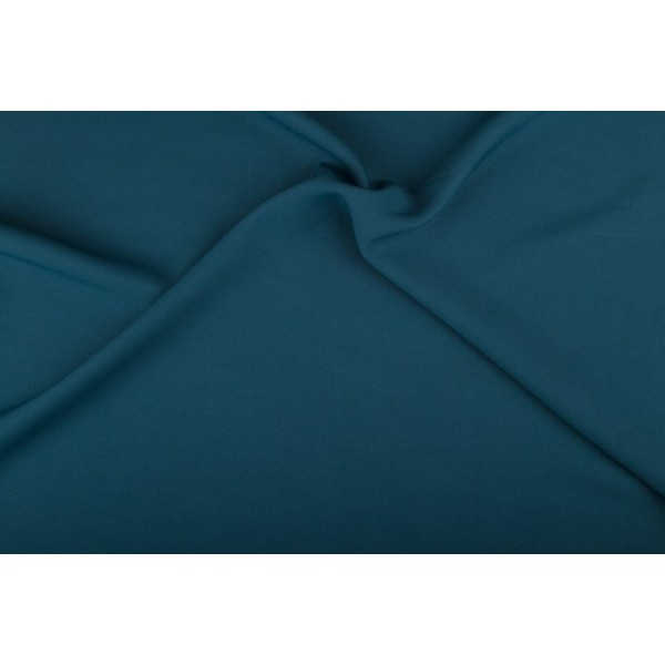 Texture stof petrol - 50m rol - Polyester