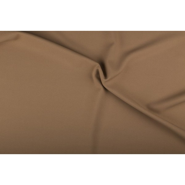 Texture stof middel camel bruin - 25m rol - Polyester