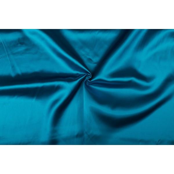 Satijn 50m rol - Waterblauw - 100% polyester