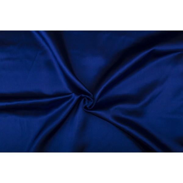 Satijn 15m rol - Indigoblauw - 100% polyester