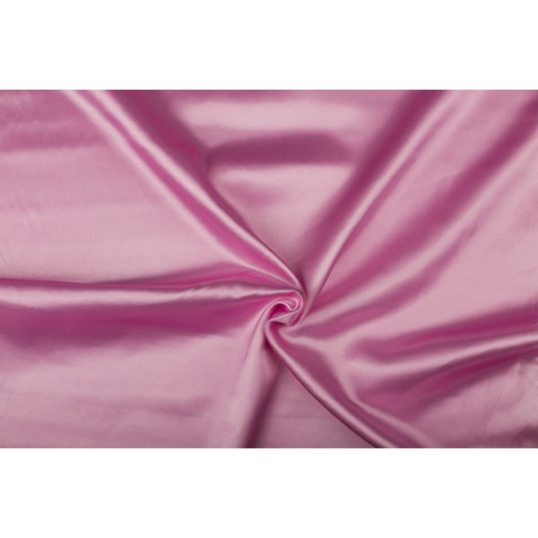 Satijn 50m rol - Roze - 100% polyester