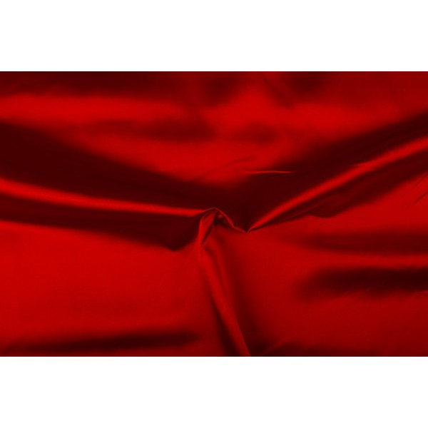 Satijn 15m rol - Rood - 100% polyester
