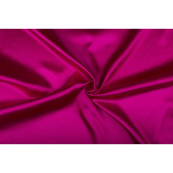 Satijn 15m rol - Fuchsia - 100% polyester