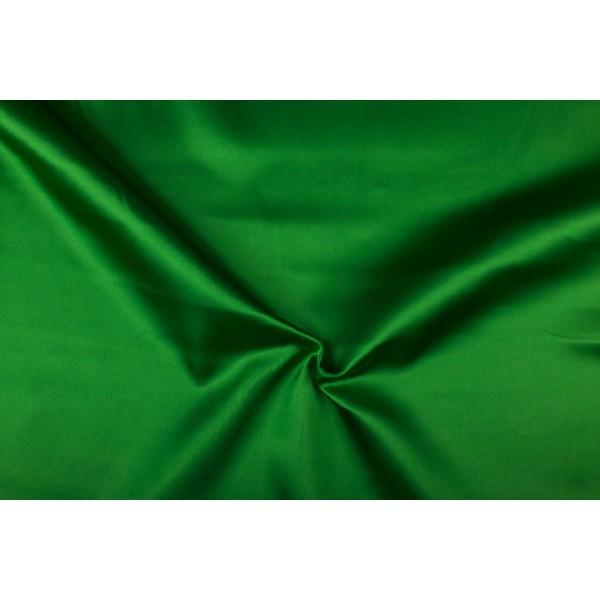 Satijn 15m rol - Groen - 100% polyester