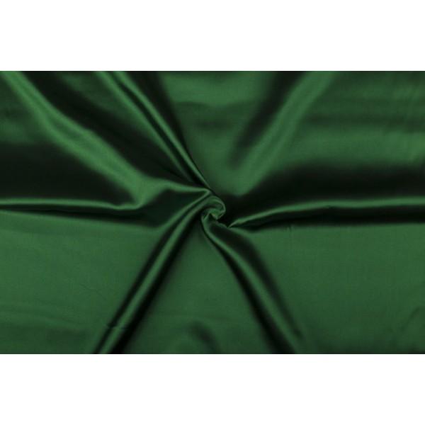 Satijn 15m rol - Donkergroen - 100% polyester