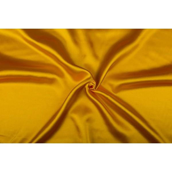 Satijn 15m rol - Geel - 100% polyester