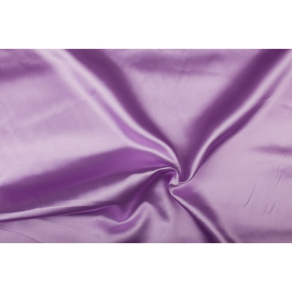 Satijn 15m rol - Lila - 100% polyester
