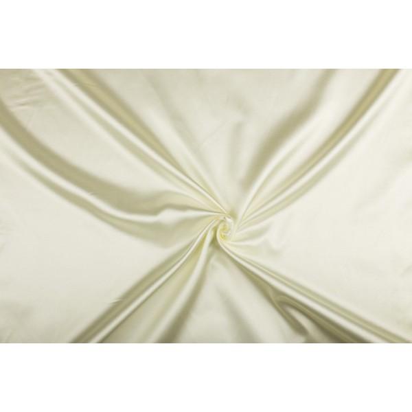 Satijn 50m rol - Gebroken wit - 100% polyester