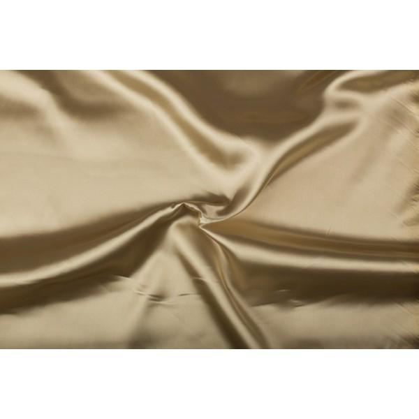 Satijn 15m rol - Zandbruin - 100% polyester