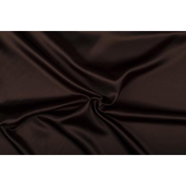 Satijn 15m rol - Bruin - 100% polyester