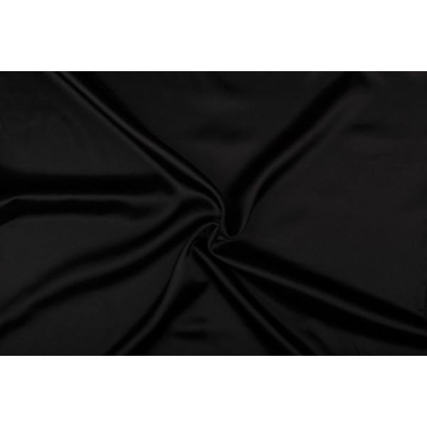 Satijn 15m rol - Zwart - 100% polyester