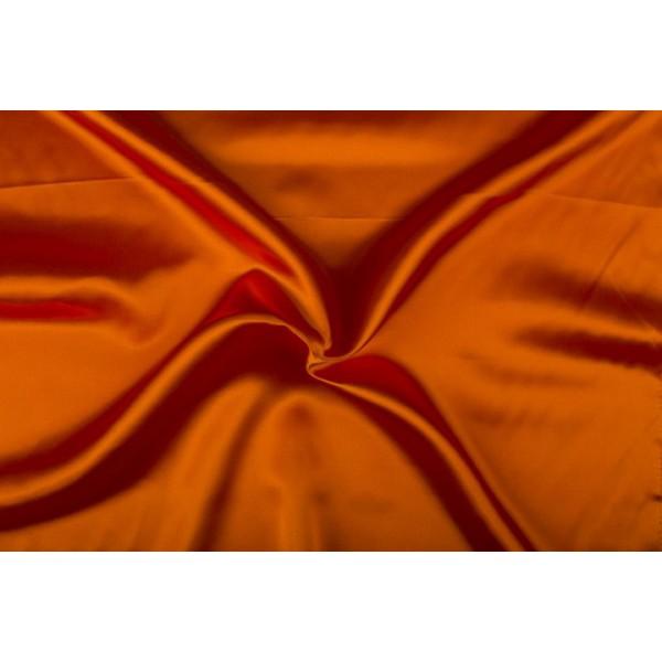Satijn 50m rol - Oranjerood - 100% polyester