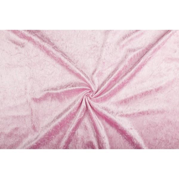 Velour de pannes lichtroze - 45m stof op rol
