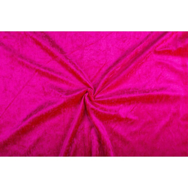 Velour de pannes fuchsia - 10m stof op rol